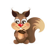Happy cartoon squirrel Royalty Free Stock Images
