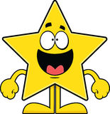 Happy Cartoon Star Stock Photo