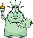 Happy Cartoon Statue of Liberty Stock Photos