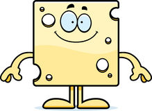 Happy Cartoon Swiss Cheese Stock Photos