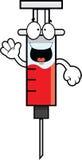 Happy Cartoon Syringe Stock Photography