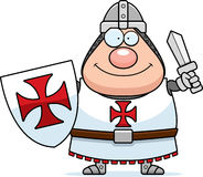 Happy Cartoon Templar Stock Photo