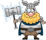 Happy Cartoon Thor Stock Image