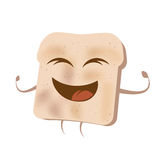 Happy cartoon toast Royalty Free Stock Photos