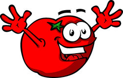 Happy Cartoon Tomato Royalty Free Stock Photo