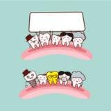 Happy cartoon tooth family Royalty Free Stock Image