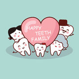 Happy cartoon tooth family Stock Photo