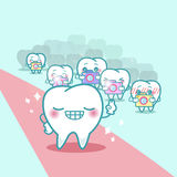 Happy cartoon tooth with paparazzi. Great for your health Stock Images