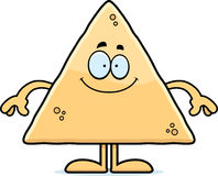 Happy Cartoon Tortilla Chip Stock Images