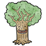 happy cartoon tree Royalty Free Stock Image