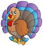 Happy cartoon turkey Stock Photos