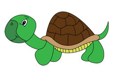 Happy Cartoon Turtle. Who is smiling stock illustration