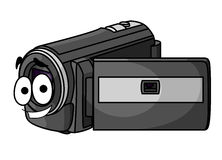Happy cartoon video camera Royalty Free Stock Image