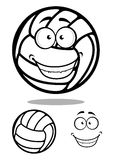 Happy cartoon volleyball ball character Royalty Free Stock Photography