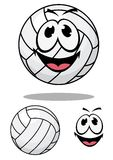 Happy cartoon volleyball Stock Photos