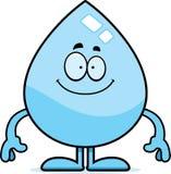 Happy Cartoon Water Drop Stock Image