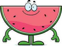 Happy Cartoon Watermelon Stock Photos