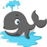 Happy cartoon whale Royalty Free Stock Photos