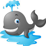 Happy cartoon whale Stock Photos