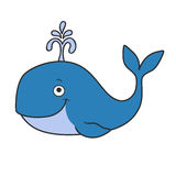 Happy cartoon whale Royalty Free Stock Image