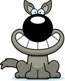 Happy Cartoon Wolf Stock Image