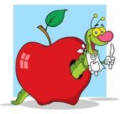 Happy cartoon worm stock illustration