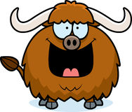 Happy Cartoon Yak Royalty Free Stock Photo