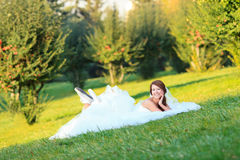 Happy casual bride Royalty Free Stock Photography