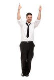 Happy Casual Business Man Dancing Royalty Free Stock Photography