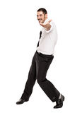 Happy Casual Business Man Dancing Stock Images