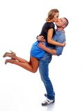 Happy  casual couple Royalty Free Stock Image