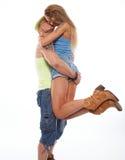 Happy  casual couple Stock Photos