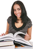 Happy Casual Dressed Hispanic Female Student Stock Images