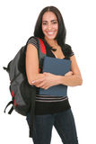 Happy Casual Dressed Hispanic Female Student Stock Photos