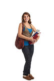 Happy Casual Dressed Young Female College Student Stock Photography