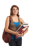 Happy Casual Dressed Young Female College Student Stock Images