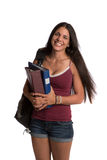 Happy Casual Dressed Young Female College Student Royalty Free Stock Image