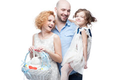 Happy casual family Royalty Free Stock Photo