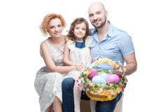 Happy casual family Royalty Free Stock Images