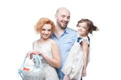 Happy casual family Stock Photos