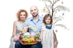 Happy casual family Stock Image