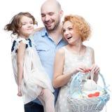 Happy casual family Royalty Free Stock Photo