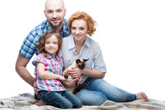 Happy casual family Stock Photography