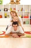 Happy casual family at home Royalty Free Stock Photos