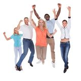 Happy casual group of people Royalty Free Stock Image