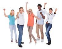 Happy casual group of people Stock Photography