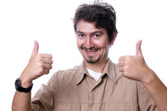 Happy casual man Stock Images
