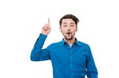 Happy casual man having idea Royalty Free Stock Photo