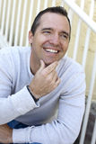 Happy casual man Stock Image