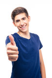 Happy casual man showing thumb up Stock Photo